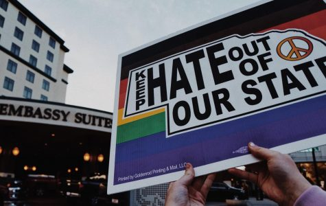 """""""Hate Still in Our State"""": Protestors gathered in downtown Lincoln to voice opposition to Nebraska Family Alliance"""