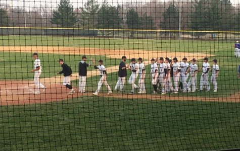 Knights Varsity Baseball gets their first win against Spartans