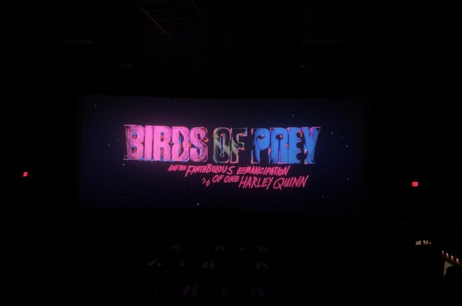Photo of the credits that rolled following the movie 'Harley Quinn: Birds of Prey