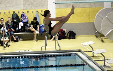 LSE Diving faced rival LSW on Thursday, Feb. 6