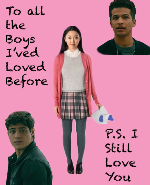 To All the Boys: P.S. I Still Love You starring Lana Condor as Lara Jean Covey, Noah Centineo as Peter Kavinsky, and Jordan Fisher as John Ambrose