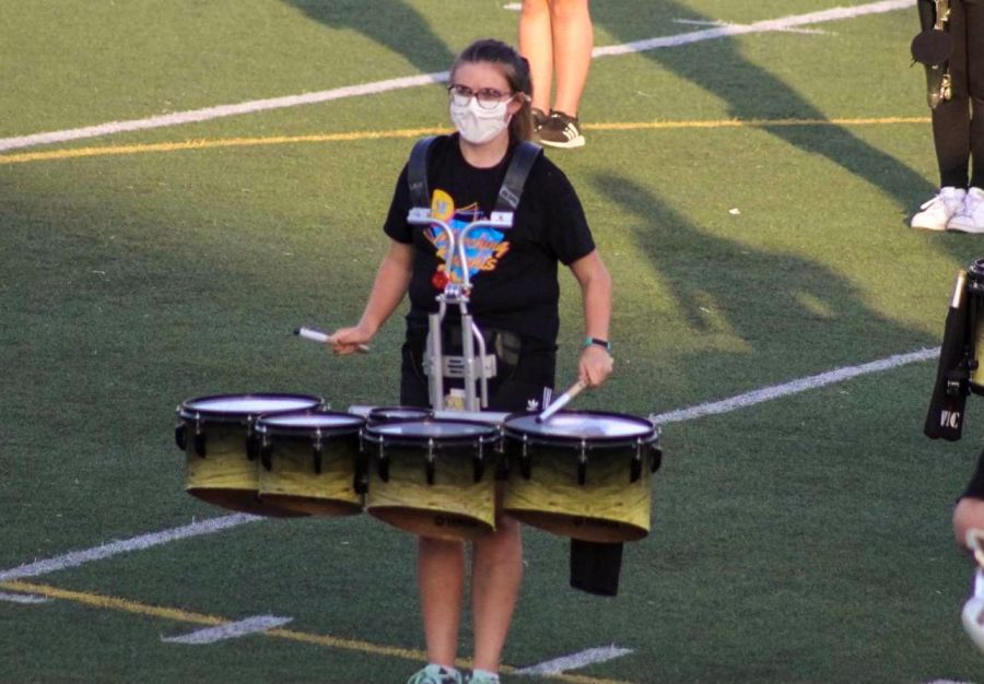 Lilienthal performs at the LPS Marching Showcase.