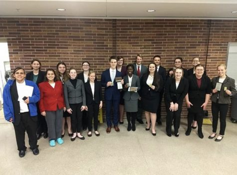 LSE Speech team at the second to last competition of last year's season.